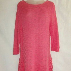 Chicos Open Knit Sweater Top swim cover up tunic